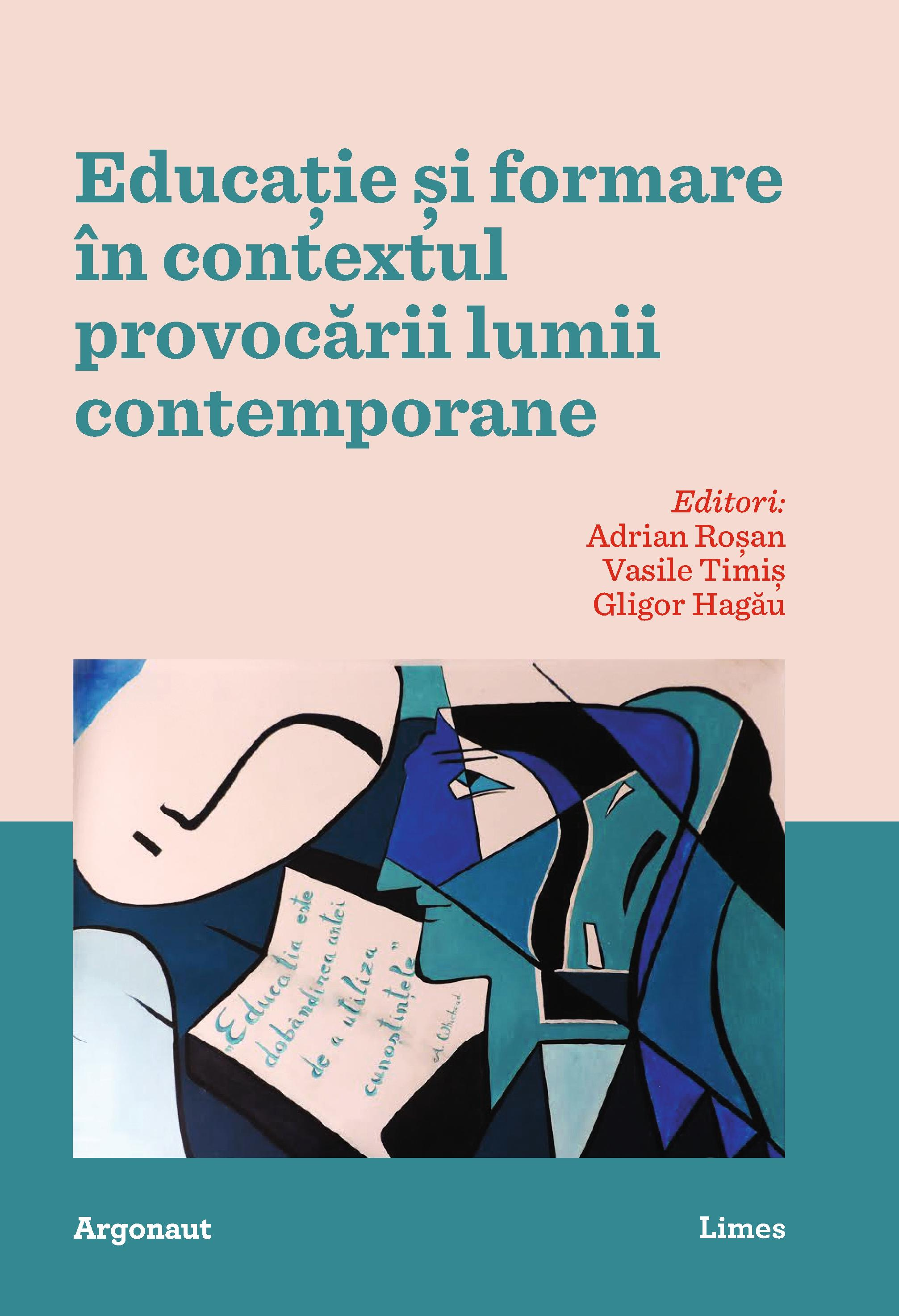 coperta volum - Educatie si formare in contextul provocarilor lumii contemporane