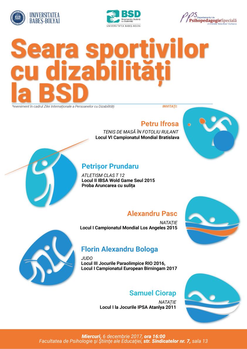 Seara sportivilor cu dizabilitati la UBB