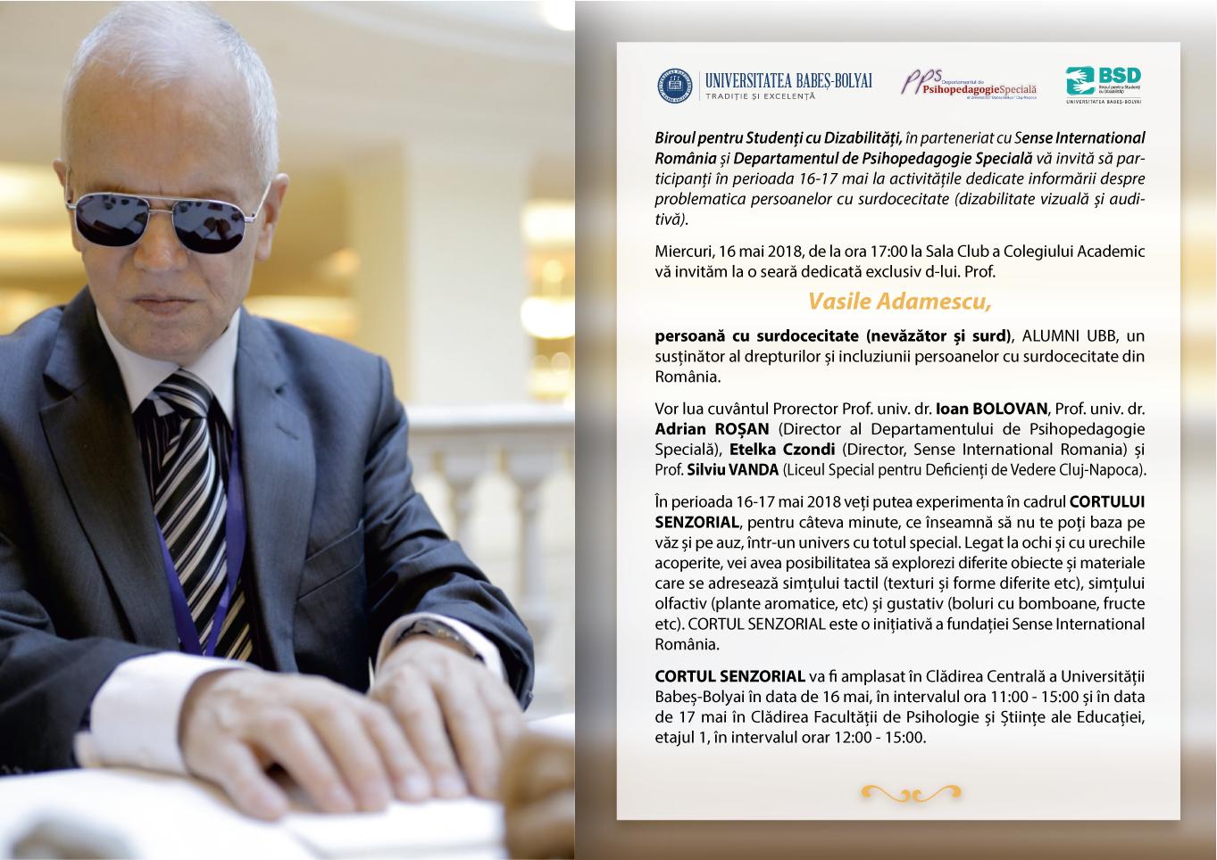 invitatie seara Vasile Adamescu